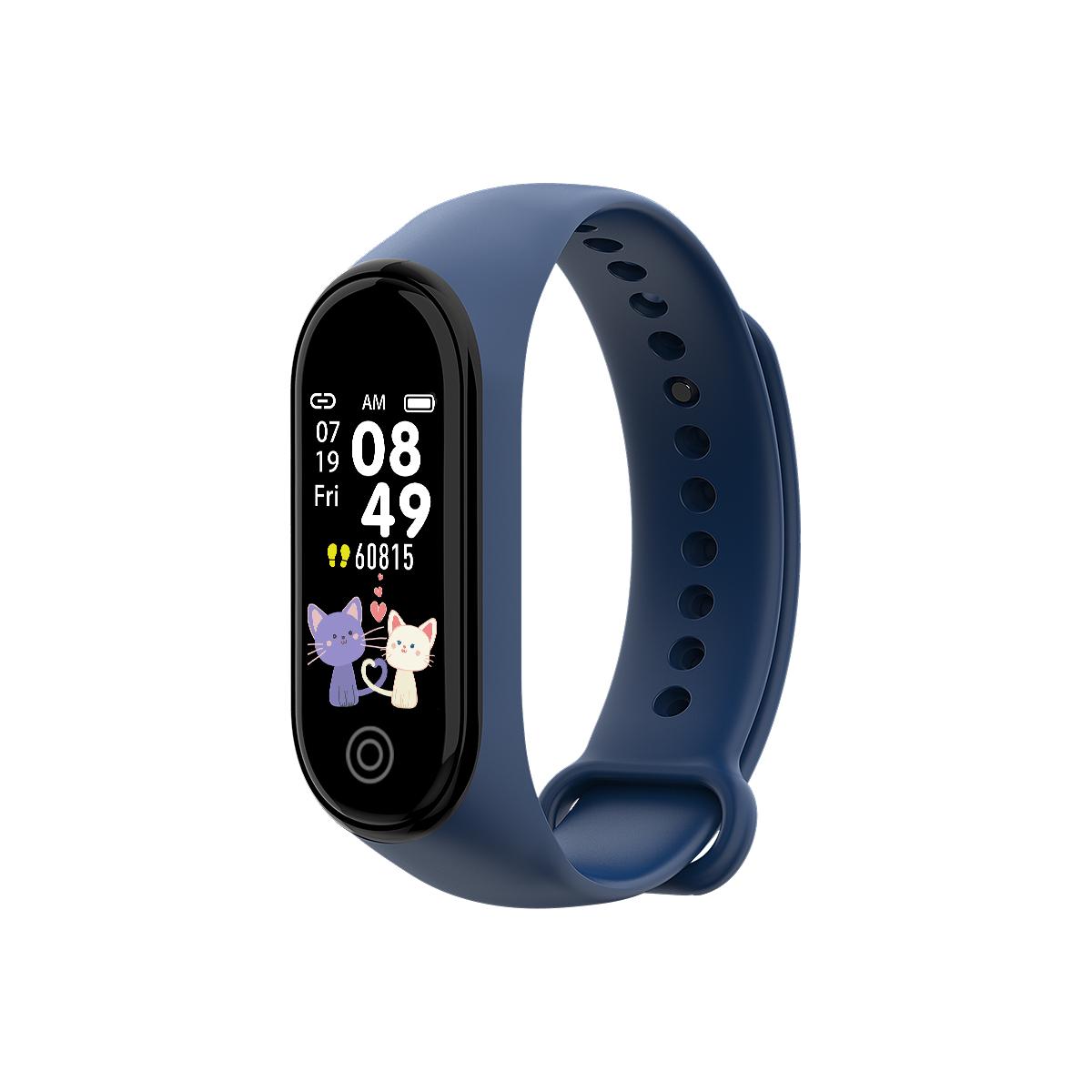 New RD05 Bracelet Smart Watch Fitness Tracking Sports Bracelet Heart Rate Blood Pressure Smart Bracelet Health Monitor blue