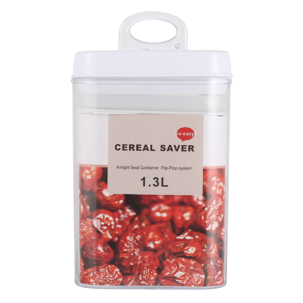 Transparent Grains Dry Sealing Plastic Sealing Cans and Store Content Box 1.3 L