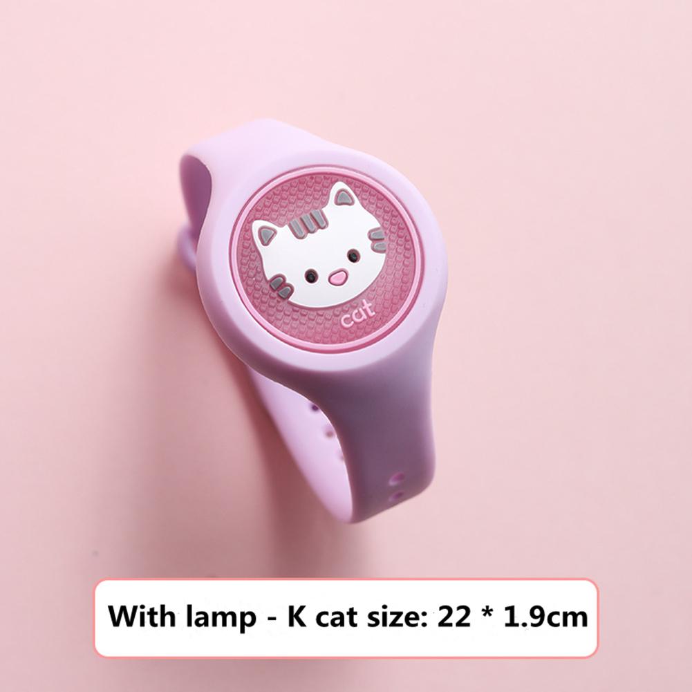 Indoor Cartoon Anti Mosquito Repellent Bracelets Baby Infant Children Luminous Hand Ring Cat