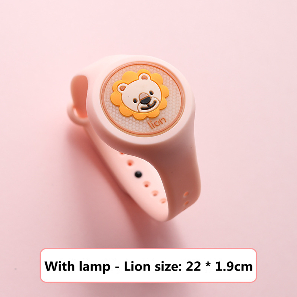 Indoor Cartoon Anti Mosquito Repellent Bracelets Baby Infant Children Luminous Hand Ring lion