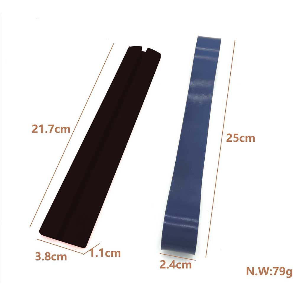 Gen2 Neck Styling Ruler Neckline Shaving Template and Hair Trimming Guide black