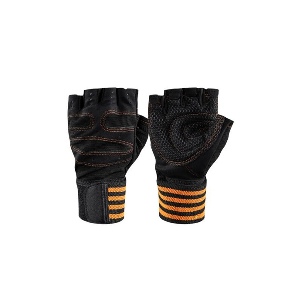 Half-finger Sports Fitness Gloves Wrist Band Anti-skid Weightlifting Cycling Gloves