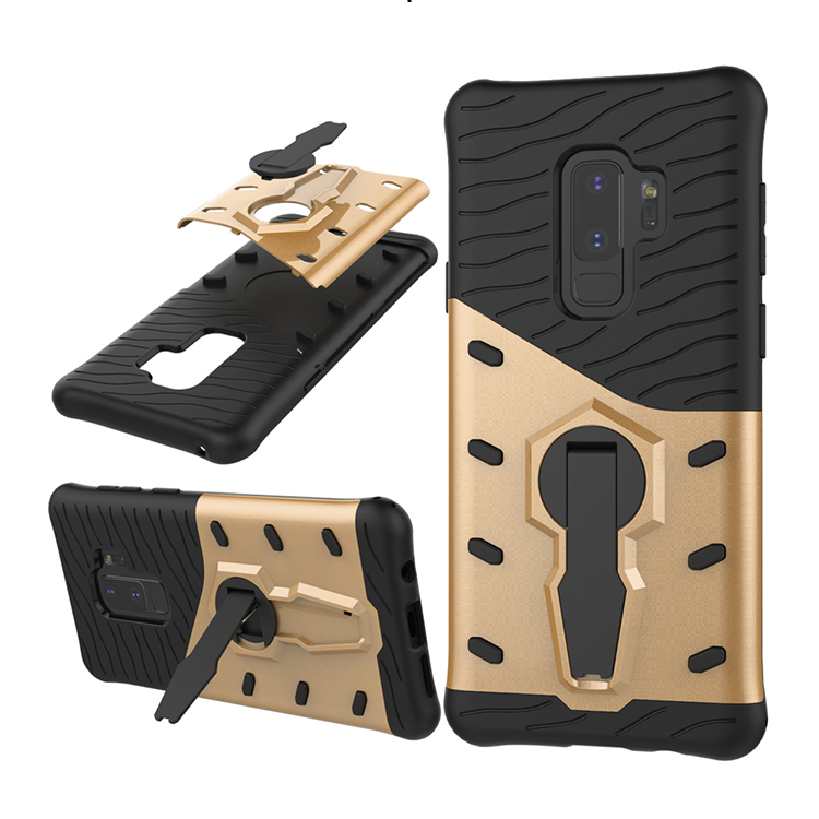 Non-slip Protective Case Rugged Shockproof Robot Armor Mobile Phone Cover with Bracket for Samsung S9 Plus