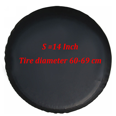 Black Car Spare Wheel Cover for Jeep Kia SUV Tire Storage Bag Practical Accessories 14inch