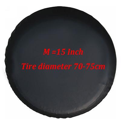 Black Car Spare Wheel Cover for Jeep Kia SUV Tire Storage Bag Practical Accessories 15inch