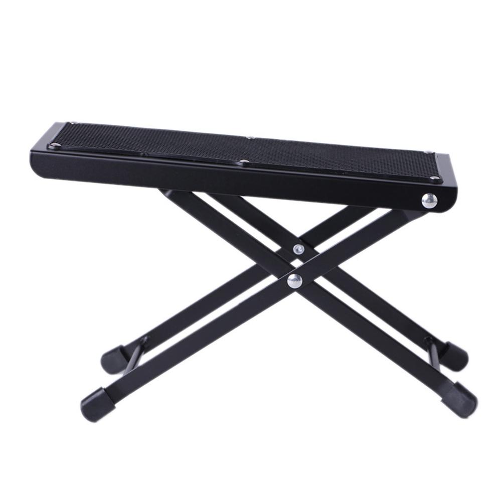 Portable Foldable Adjustable Guitar Footstool Footrest Rest Acoustic Electric Guitar Parts black