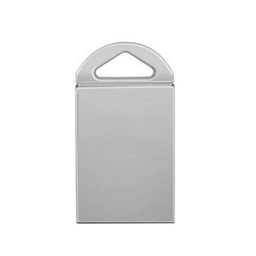 USB 2.0 8/16/32/64GB Flash Drives Memory Metal Flash Drives Pen Drive U Disk  Silver