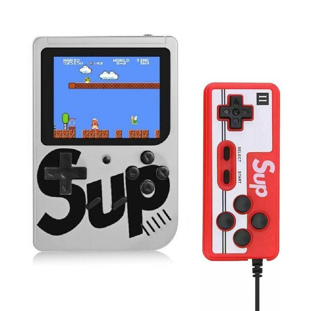 Handheld Game Console Portable Gameboy Box Arcade Classic Video Game Handle Retro Design White