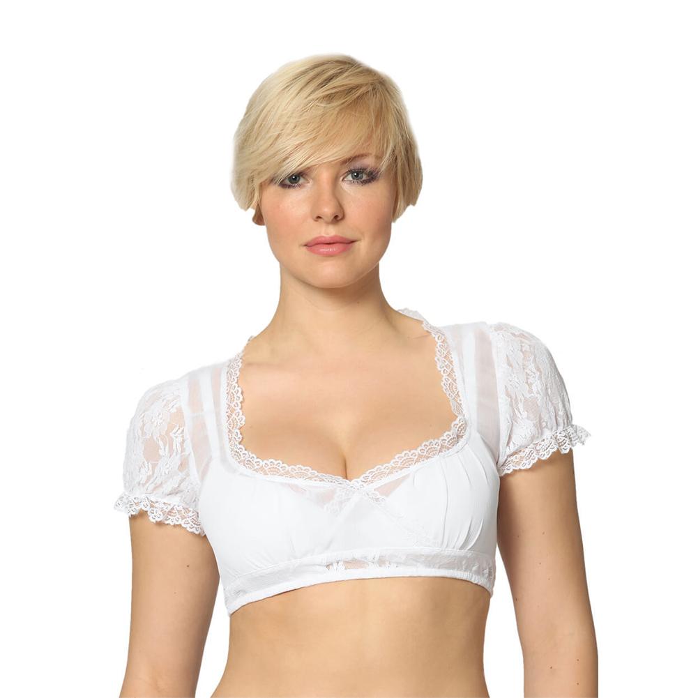 Beer Festival Women Lace Shirt Bavarian Clothing White Shirt Blouse white_XL=40