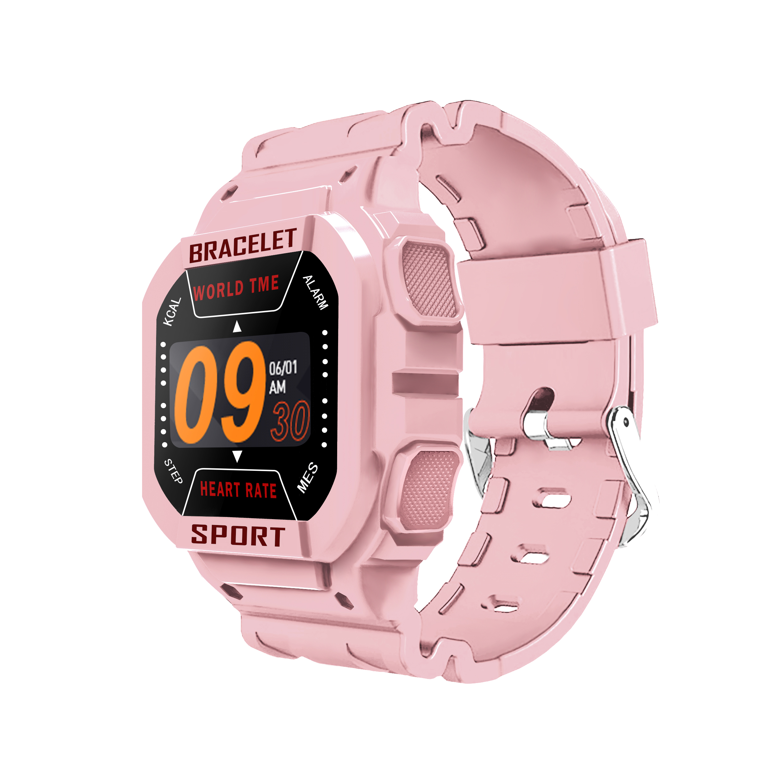 Smart  Watch I3 Bluetooth Heart Rate Sports Weather Monitor Messages Smart Bracelet Pink