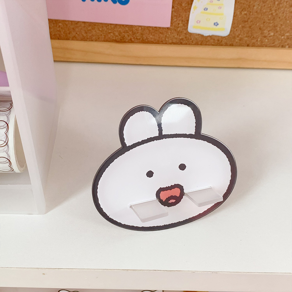 Wholesale Mobile Phone Holder Cute Mini Cartoon Phone Accessories Stand Desk Tablet Stand Desktop 1 Smiling Cute Rabbit From China