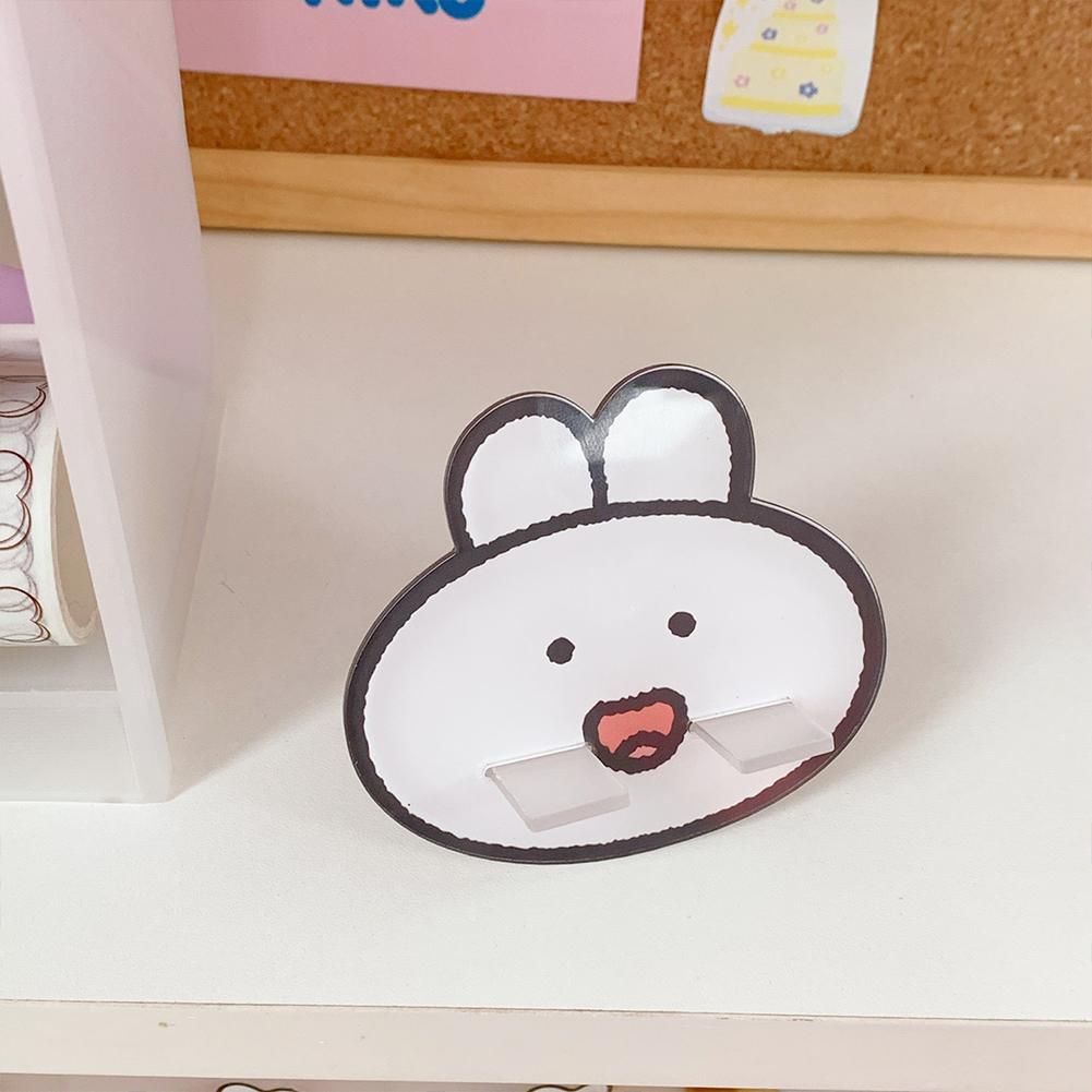 Mobile Phone Holder Cute mini Cartoon Phone Accessories Stand Desk Tablet Stand Desktop 1#Smiling cute rabbit