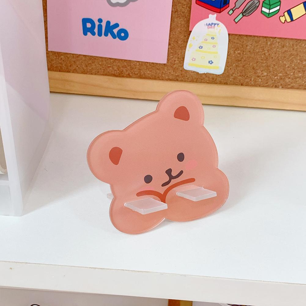 Mobile Phone Holder Cute mini Cartoon Phone Accessories Stand Desk Tablet Stand Desktop 2#lovely cute bear