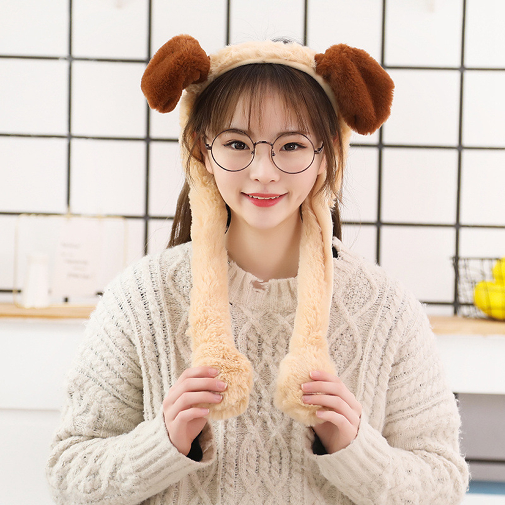 Cute Animal Shape Hair Clasp Moving Lighting Ears by Pressing Hair Band puppy