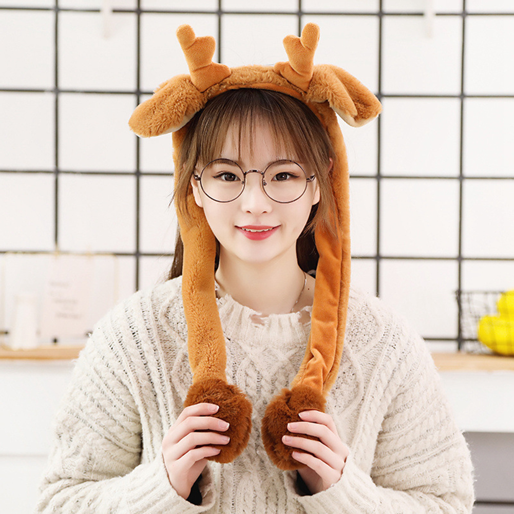 Cute Animal Shape Hair Clasp Moving Lighting Ears by Pressing Hair Band Fawn
