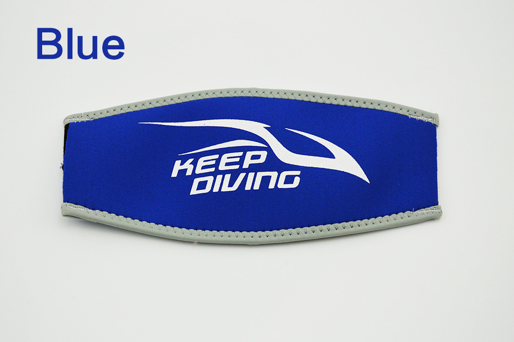 Scuba Diving Mask Head Strap Cover Mask Padded Protect Long Hair Band Strap-Wrapper  blue_Free size