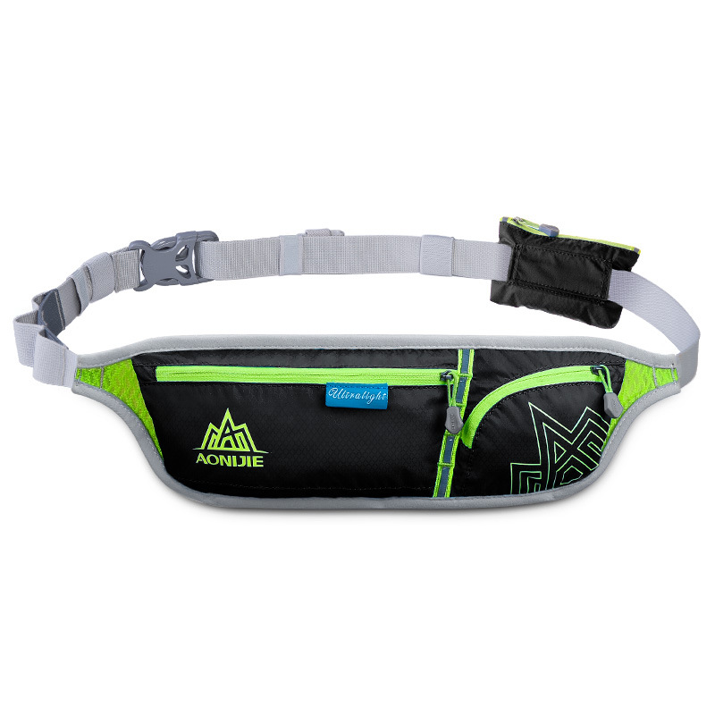Unisex Outdoor Running Waist Bag Sports Waterproof Security Smart Phone Bag Pack Running Belt Bag for Hiking Camping Cycling black_10 inches or less
