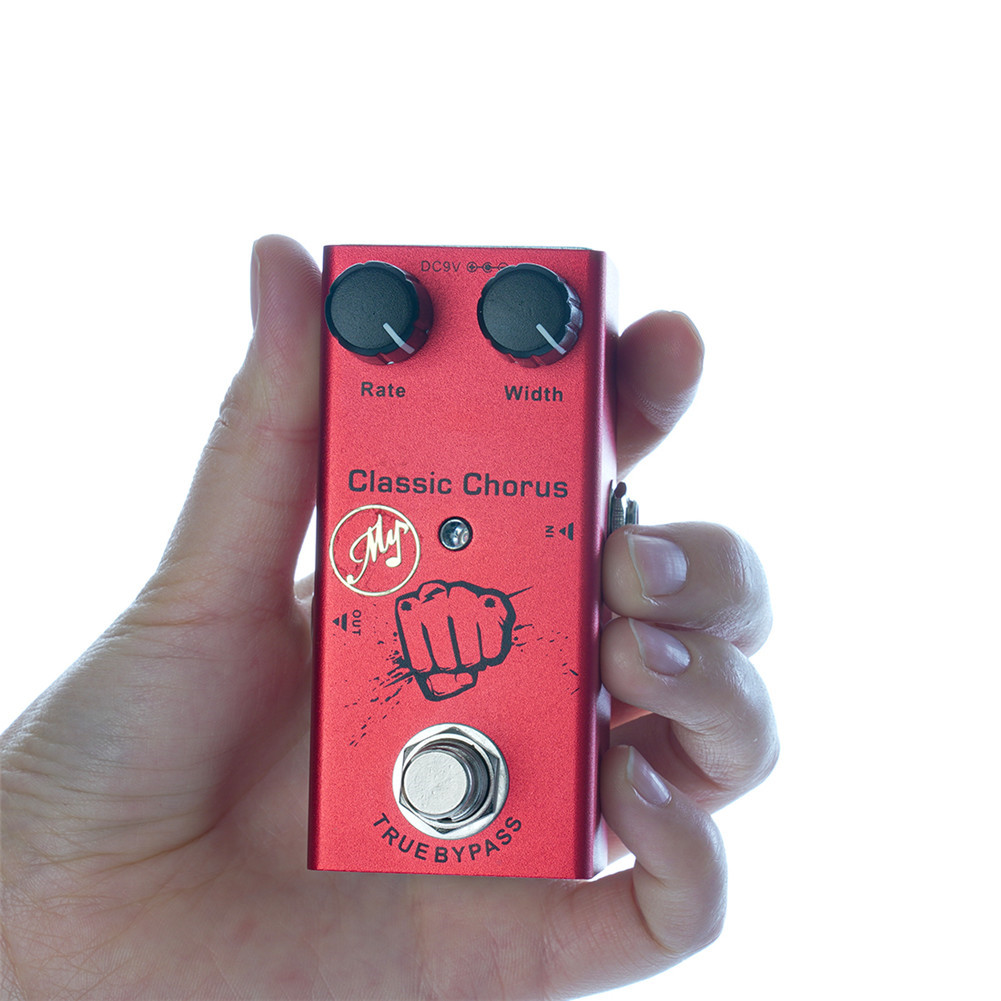 JDF-5 Electric Guitar Effector Red Classic Chorus with Led Light red