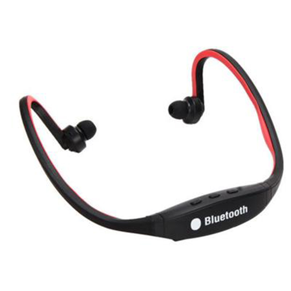 Wireless Headset for iPhone Samsung (Red)