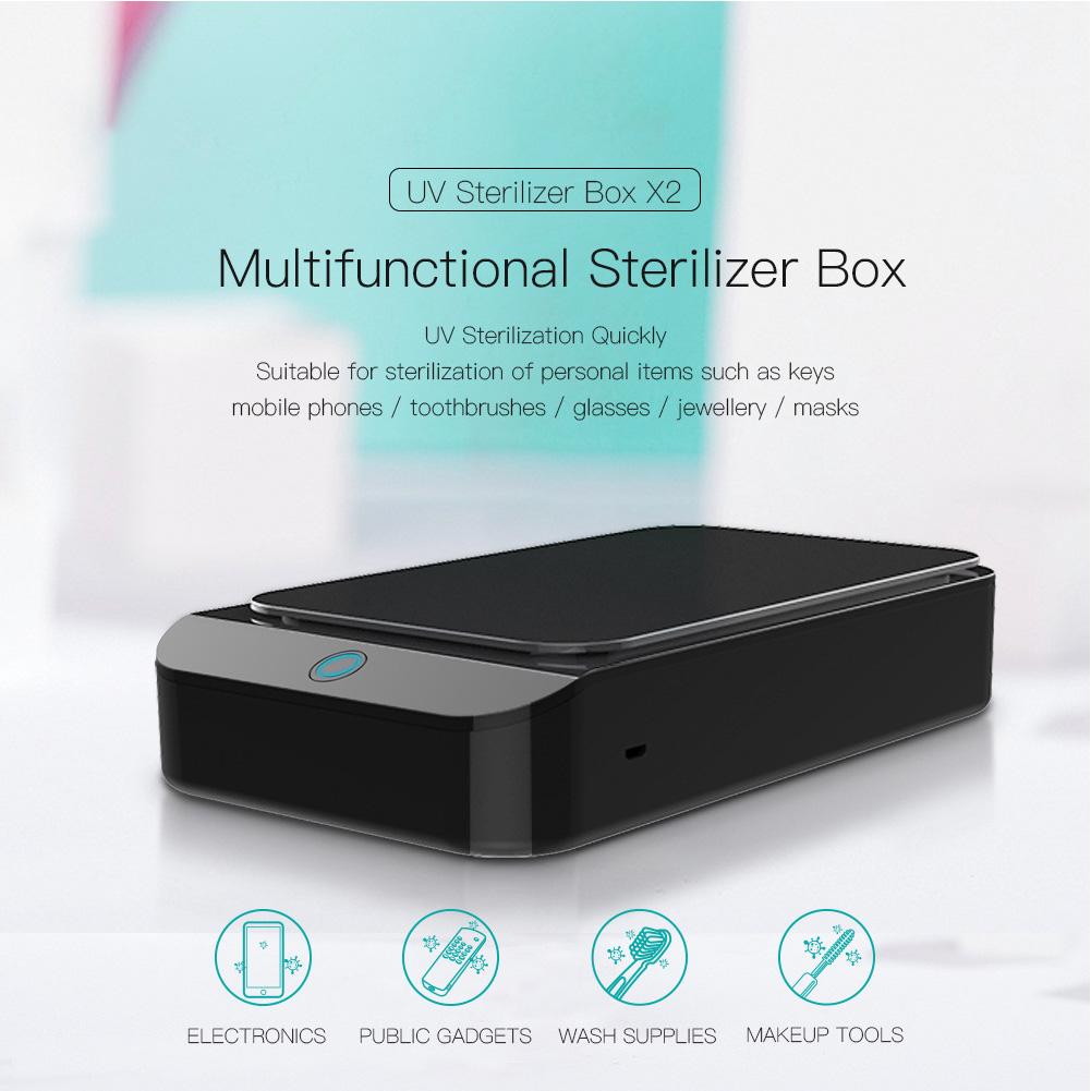 Sterilizer Box UV Disinfection Box Pedicure Manicure Box Boxes Sterilizing Steel Metal Nipper Equipment Cleaner Tools black
