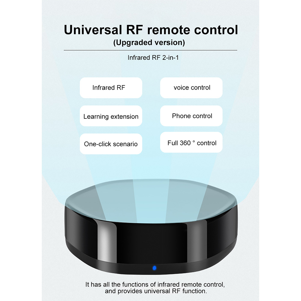 Wifi Smart IR Remote Controller Home Smart Home Air Conditioner TV Fan STB Infrared Products black