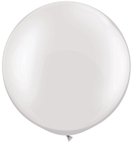 [EU Direct] 1pc 36 Inch Latex Thick White Balloons for Ceremony Party Festival Decoration white