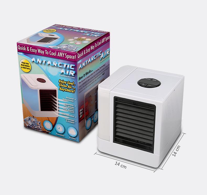 Arctic Air Cooler Portable Home TV Mini Desktop USB Fan Small Air Conditioner Default (7 color LED lights)