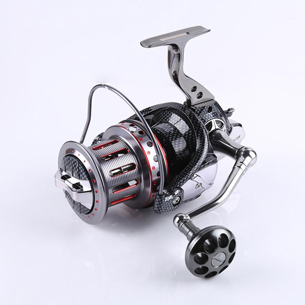All-metal Large Fishing Reel Stainless Steel Bearings Spinning Wheel Reel Bait Casting Reel Boat Sea Fishing Wheel 8000