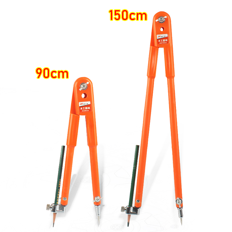 Carpenter Precision Pencil Compasses Large Diameter Adjustable Dividers Marking and Scribing Compass for Woodworking Large rule