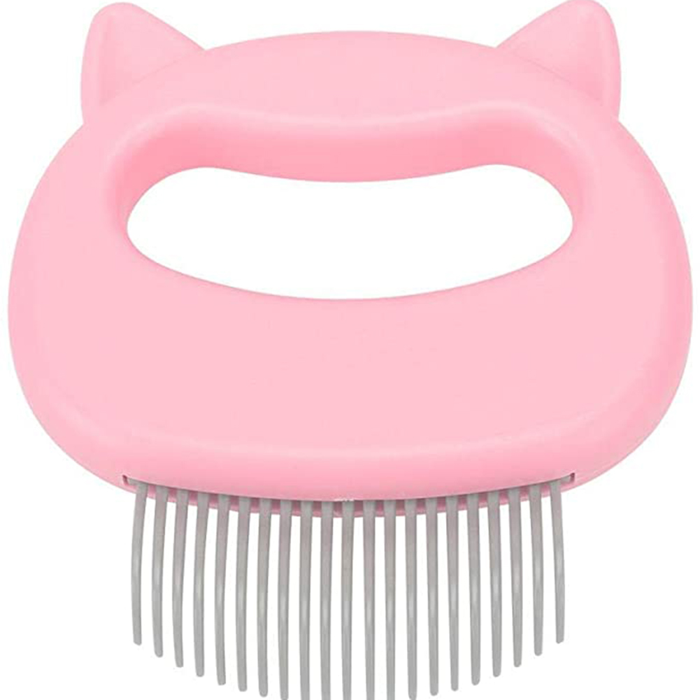 Massaging Shell  Comb For Cat Dog Cleaning Brush Hair Removal Shedding Cleaning Comb Pink