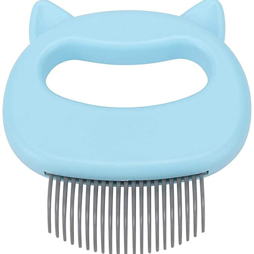 Massaging Shell  Comb For Cat Dog Cleaning Brush Hair Removal Shedding Cleaning Comb Light blue