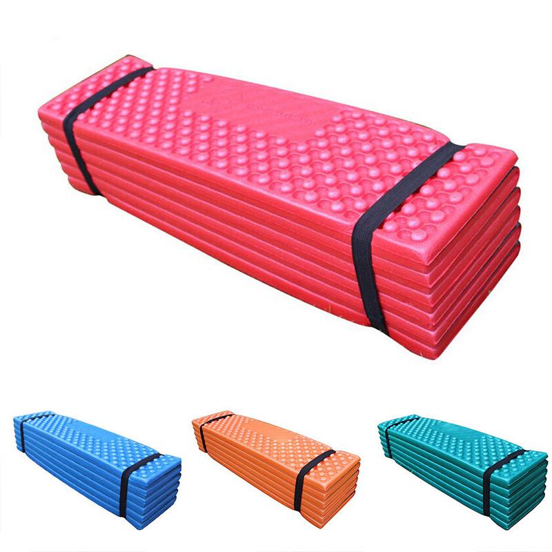 Ultralight Foam Outdoor Camping Mat Easy Folding Beach Tent Sleeping Pad Waterproof Mattress 190 * 57 * 2 cm Red_190 * 57 * 2CMOrangeDark greenredblue