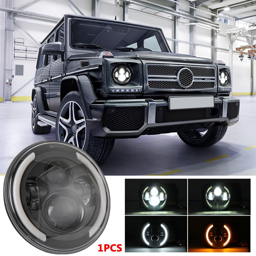 7 INCH 200W LED Headlights 6000K+3000K Halo Angle Eye For Jeep Wrangler CJ JK LJ 97-17