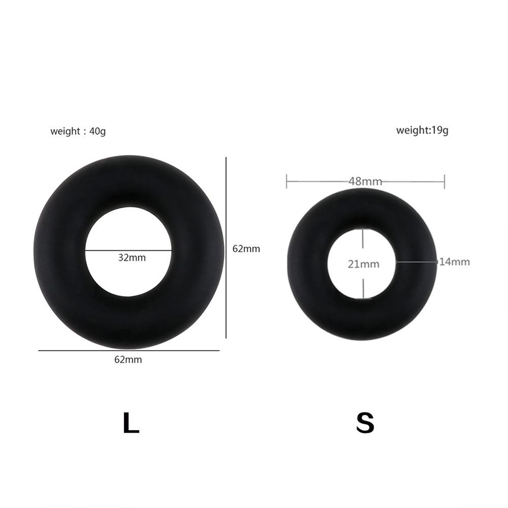 Elastic Cock Ring Sex Toys For Men Erection Strong Penis Ring Big Size Liquid Silicone Black Delay Ejaculation Large aluminum foil bag