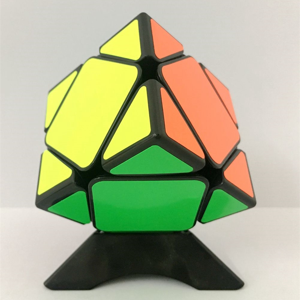 [US Direct] 3*3 Professional Skewb Cube Three Layers Hexahedron Puzzle Cubes Brain Teaser Speed Cube Black
