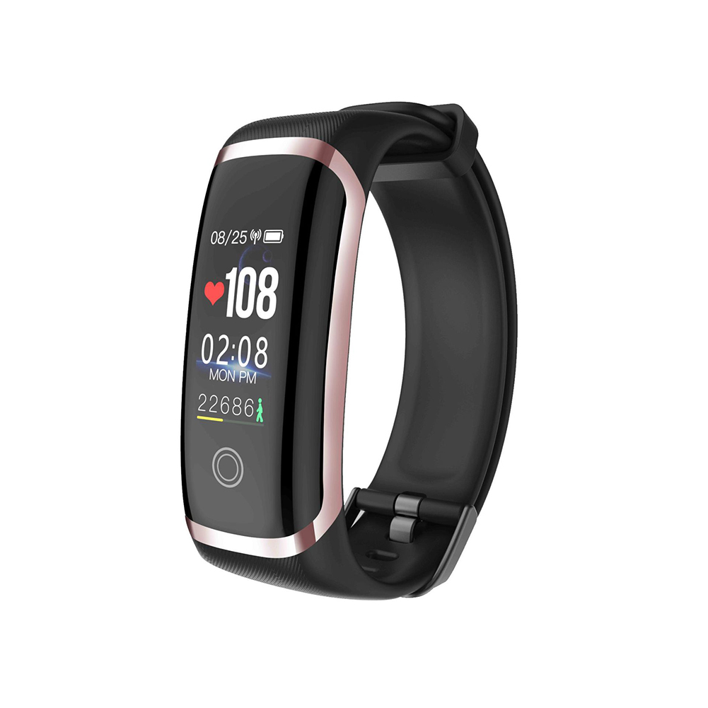 M4 Colorful Screen Smart Watch Continuous Heart Rate Blood Pressure Health Monitoring Sports Ip67 Waterproof Bracelet Golden black