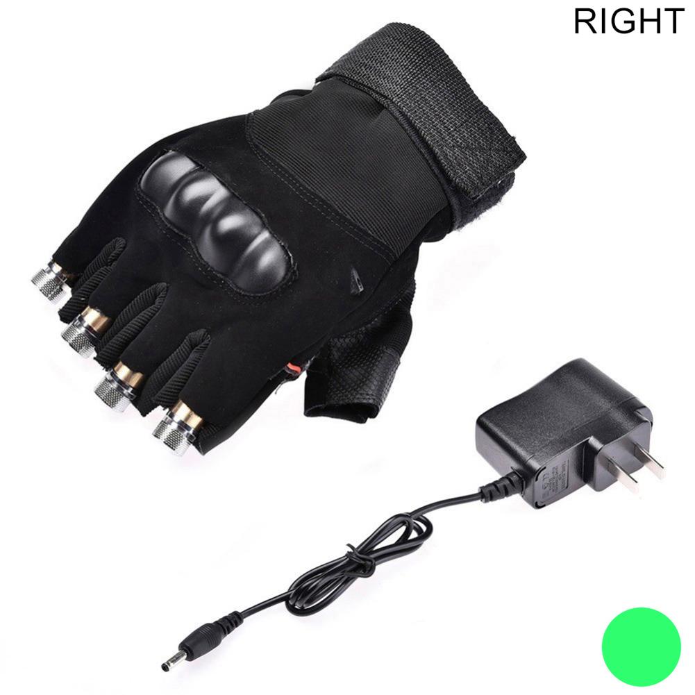 1pc Green Laser Glove Red Laser Gloves Nightclub Laser Dance Show Props right hand-green_US Plug