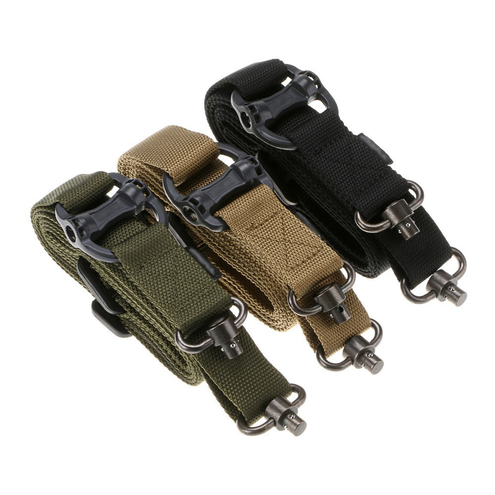 Retro Tactical Multi-function Ropes 2-point Safety Ropes Rifle Sling Nylon Band ArmyGreen