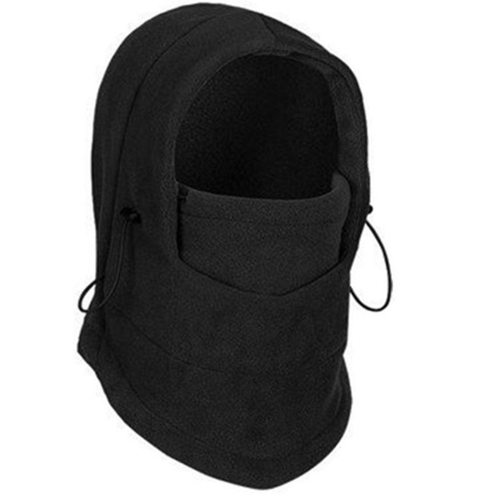 Thermal Warm Fleece Balaclava Bike Bicycle Cycle Face Mask Snood Hood Neck Scarf black_One size