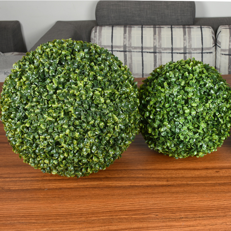 Simulate Plastic Leave Ball Artificial Grass Ball Home Party Wedding Decoration 4844