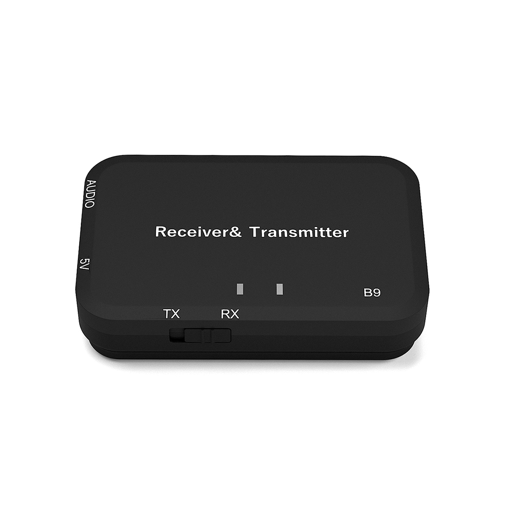 Bluetooth V4.2 Transmitter Receiver Wireless A2DP Stereo Audio 3.5mm Aux Adapter black