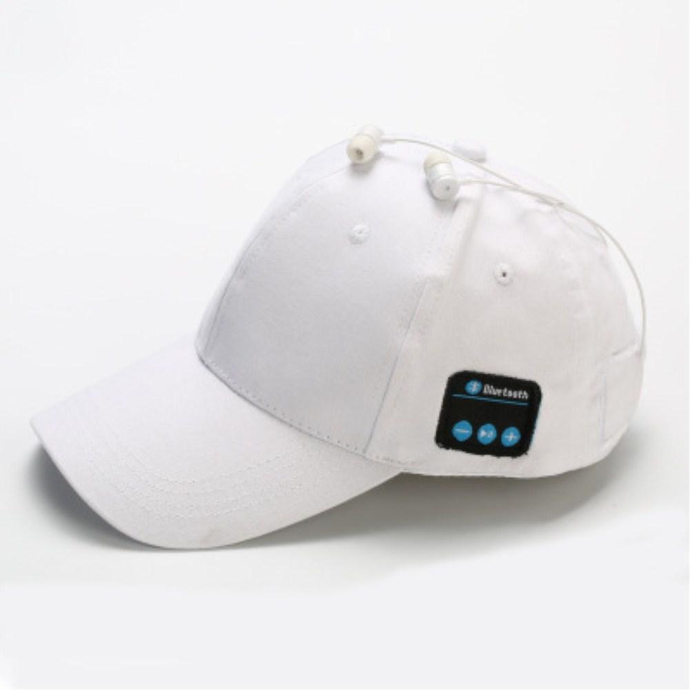 Wireless Bluetooth Earphones Sport Music Cal Baseball Cap Ourdoor Headset white