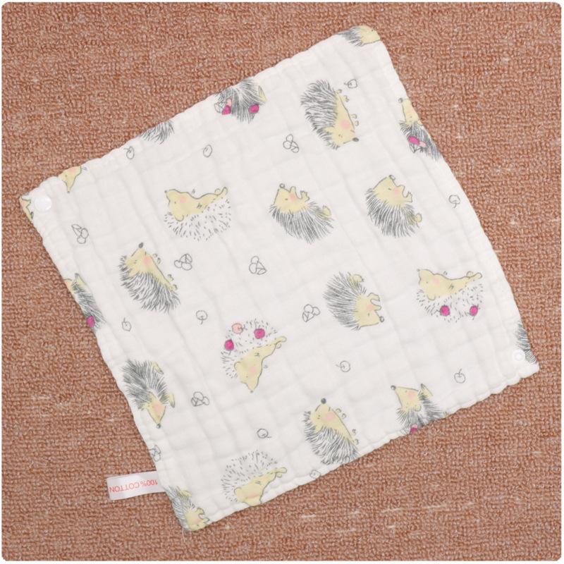 Baby Dual-use Bib Cotton 6-layer High Density Towel  Hedgehog