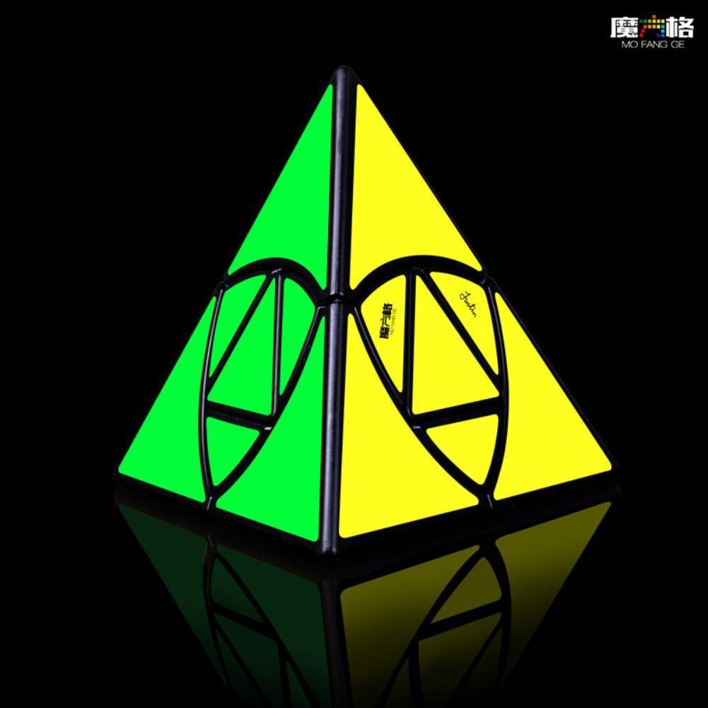 Qiyi Magic Cube Pyramid Smooth Speed Cube Educational Toy black