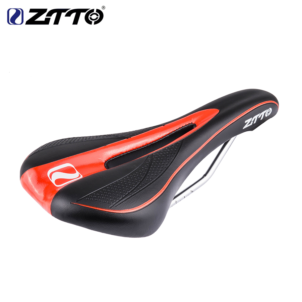 Soft Bicycle Bike Saddle Cushion Seat Cover Pad Hollow Seat Cushion Black red_One size