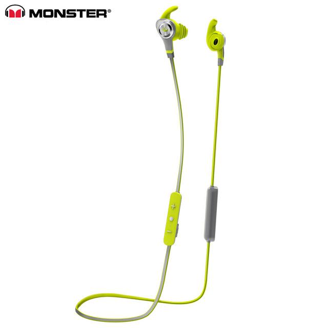 Original  Isport Intensity In-ear Earphones Sweatproof Wireless Bluetooth Headset With MIC Bass Stereo Remote Control Sports Headphone green