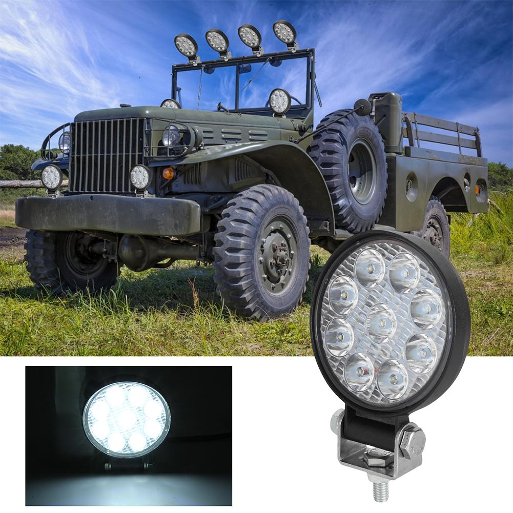 2PCS 48W Car LED Light Mini 3 inch Nine beads Round Lamp Off-road Car Headlights white light