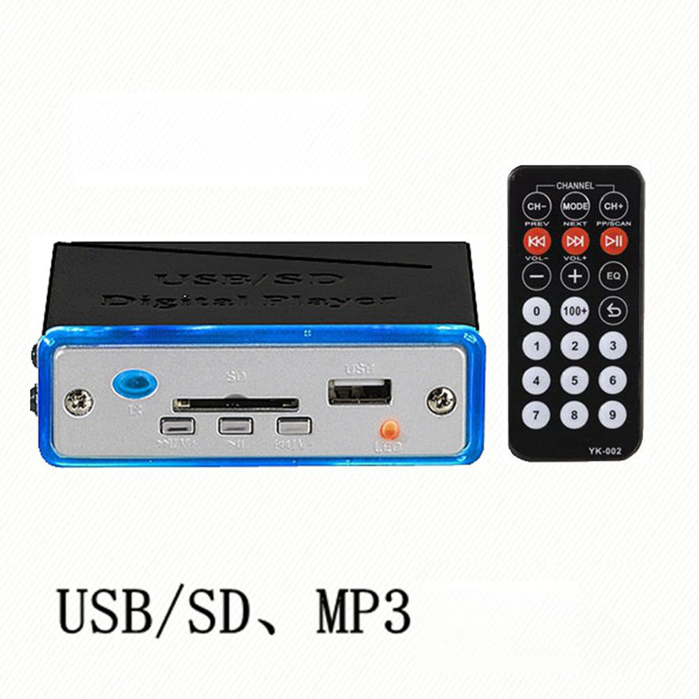 A2 Card Reader USB/SDMP3 Decode MP3 Module Player MP3 Amplifier black