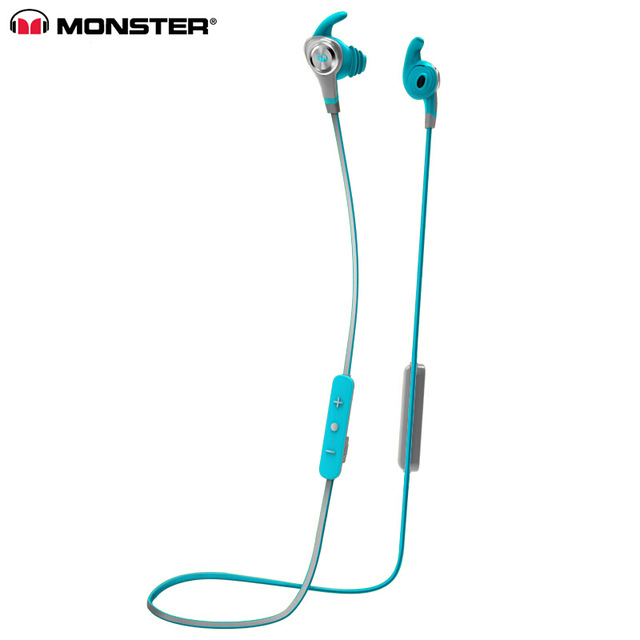 Original  Isport Intensity In-ear Earphones Sweatproof Wireless Bluetooth Headset With MIC Bass Stereo Remote Control Sports Headphone blue