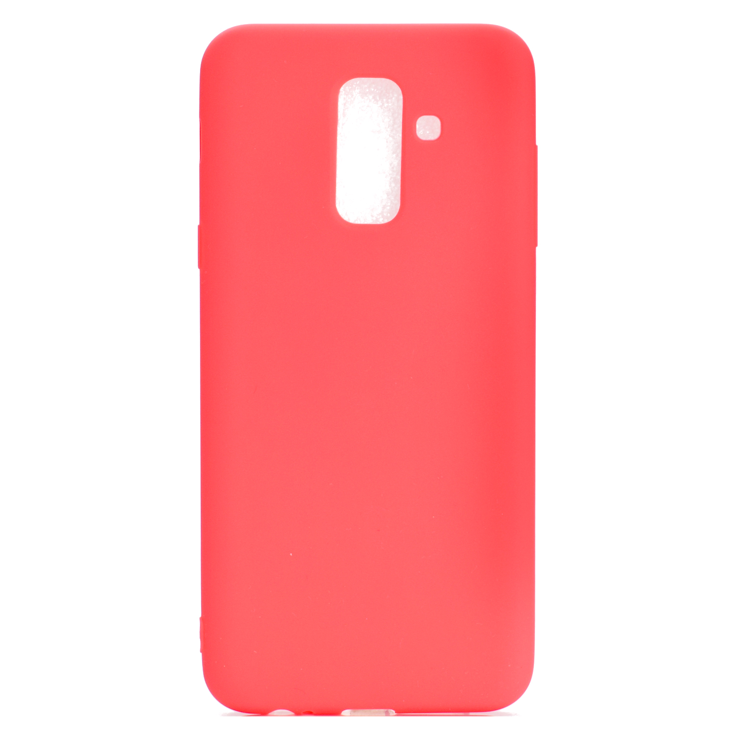 for Samsung A6 plus 2018 Lovely Candy Color Matte TPU Anti-scratch Non-slip Protective Cover Back Case red